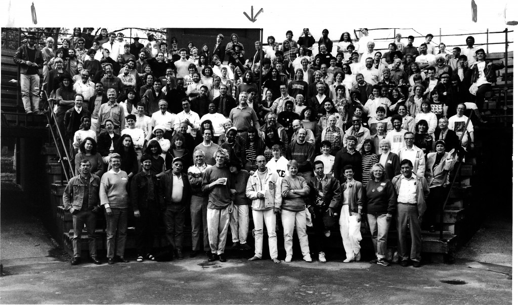 The Antioch community in 1990, looking especially non-toxic