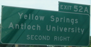 """The sign once said """"Antioch College."""" Antioch University trumped it at some point."""